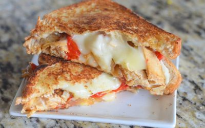 Recette : sandwich de fromage fondu Havarti avec poulet et fajita